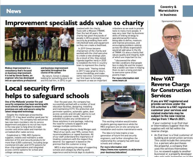 C&W Chamber Article – Local security company helping to safeguard schools